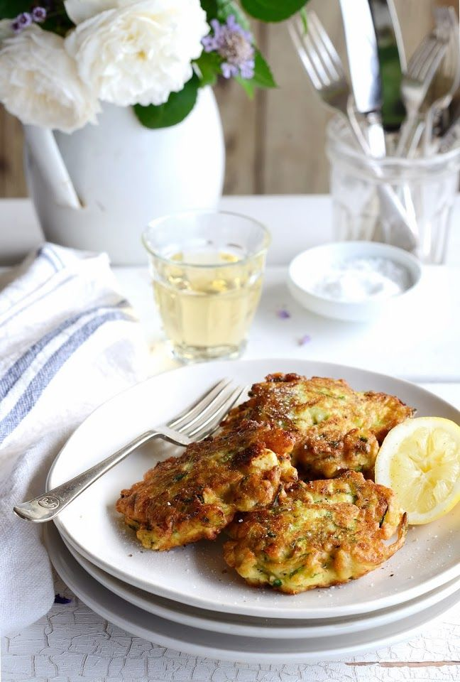 Zucchini and Ricotta Fritters with Parmesan, Lemon and Mint