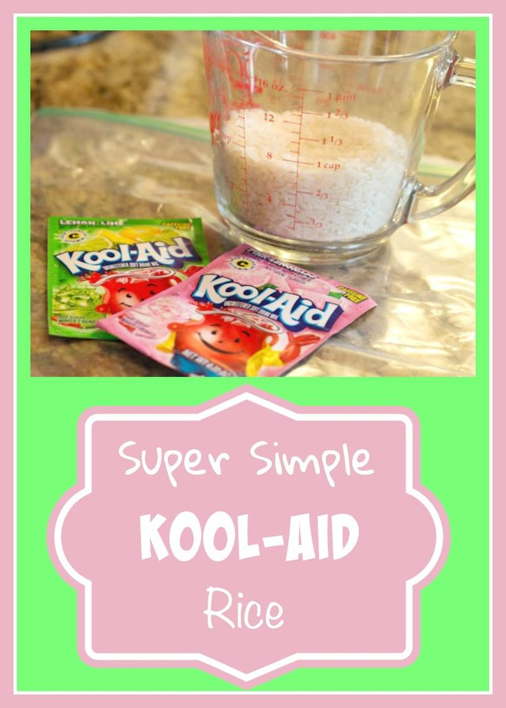 Simple tutorial on how to dye rice with kool-aid. This is great for sensory play, especially sensory bins!