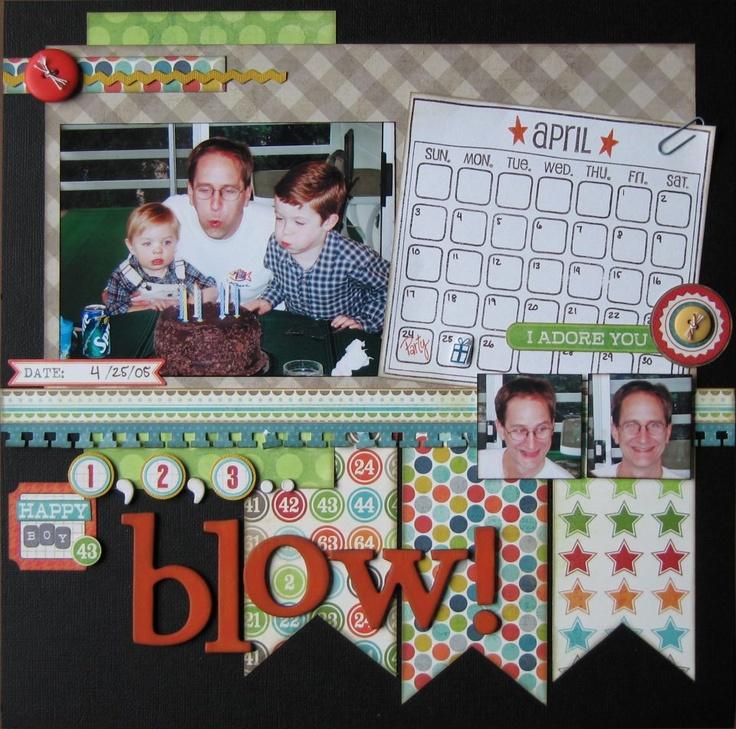 stefanie: Scrapbook Ideas, Layout Ideas, Nice Layout, Birthday Scrapbook, Scrapbook Layout, Scrapbook Birthday, Paper Scrapbook, Scrap Layout, Birthday Layout