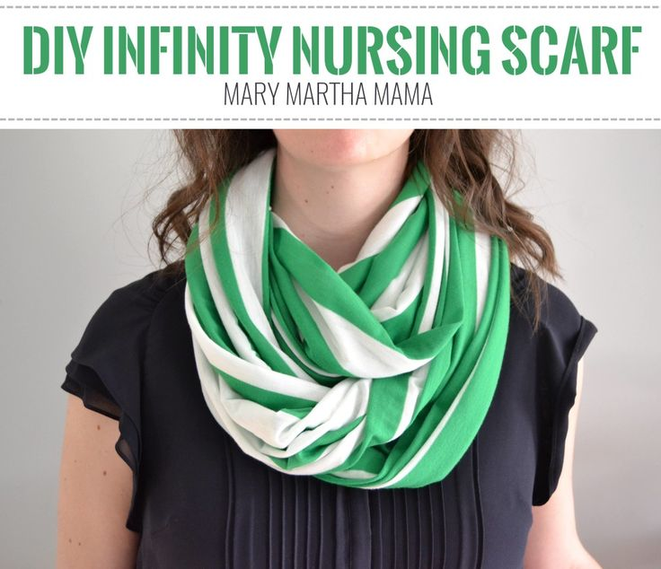 DIY infinity nursing scarf tutorial- step by step instructions for how to make a breastfeeding scarf with 1 yard of fabric & in less than 30 minutes!