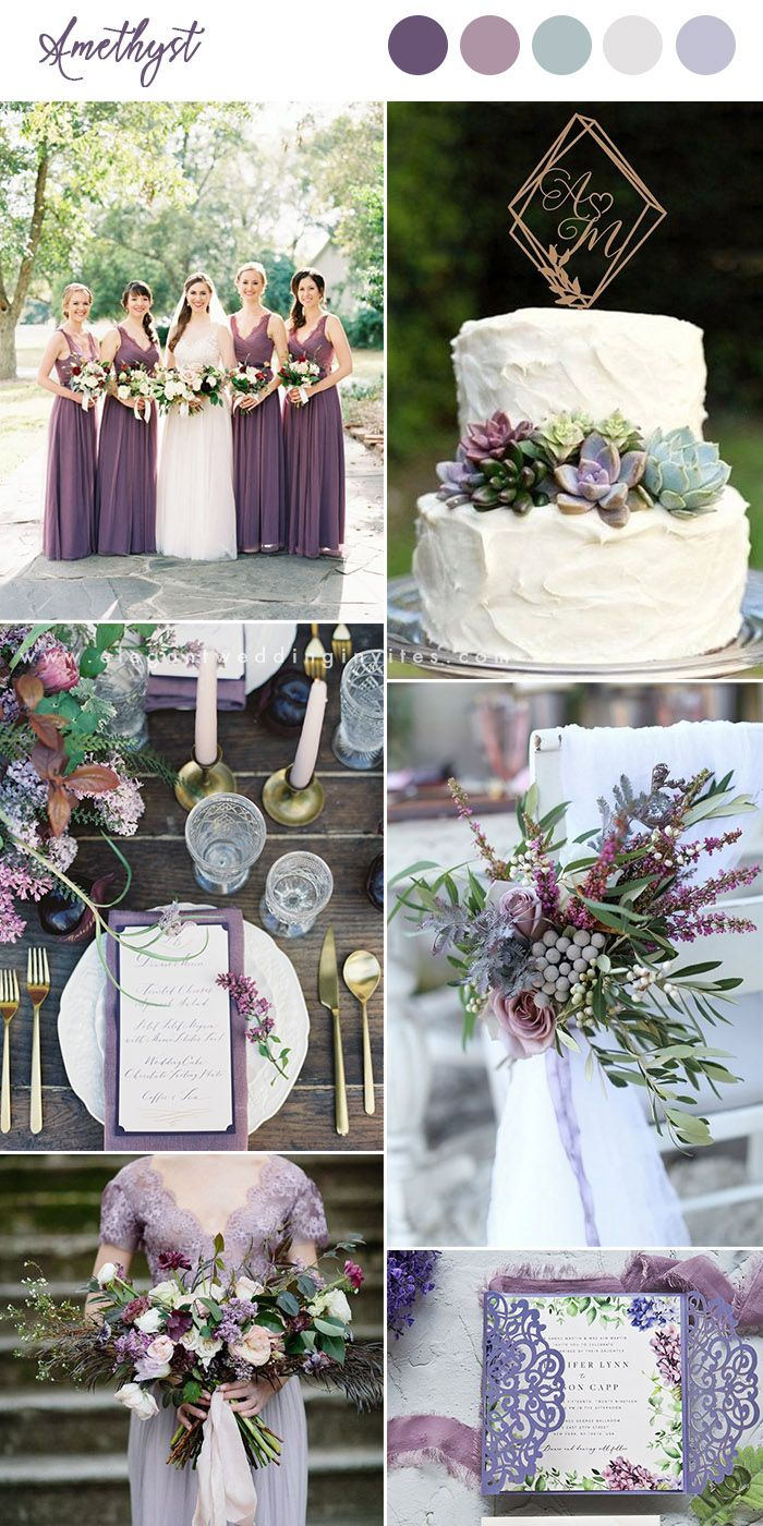 10 Pretty Shades Of Purple Wedding Color Combos Lilac Wedding