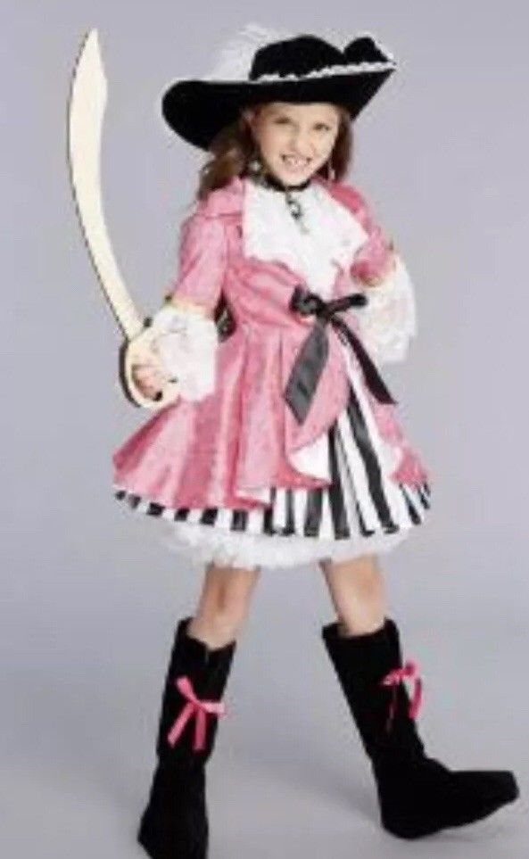 23422bdf266dc Girls Halloween Pink Pirate Costume (SZ 10/12/14) #fashion #clothing ...