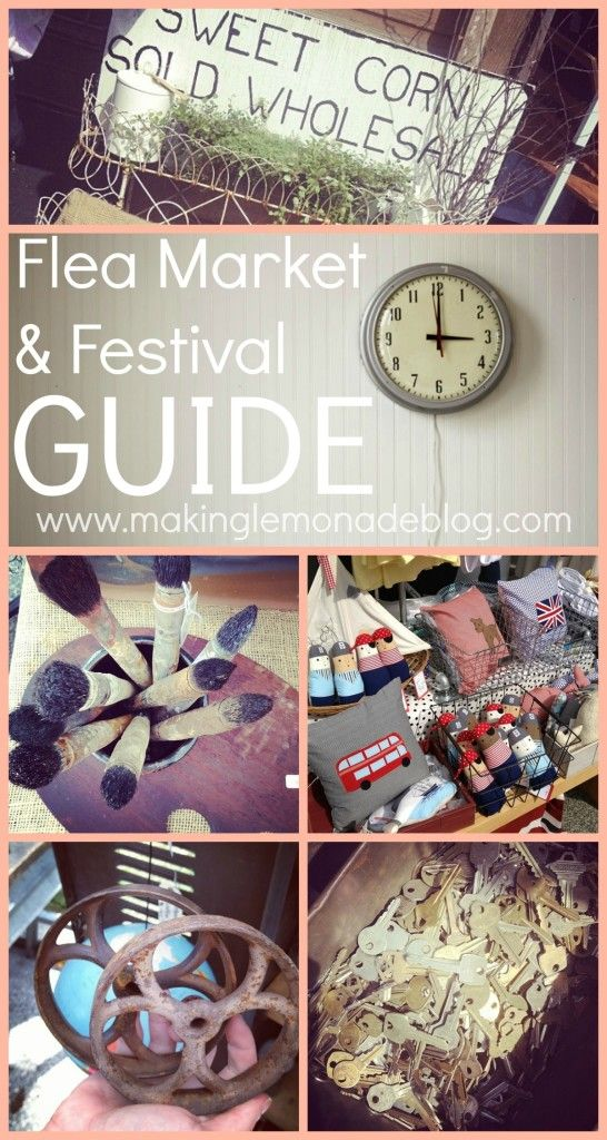 How to find score the best deals during flea market and festival season! {Flea Market and Outdoor Festival Directory}