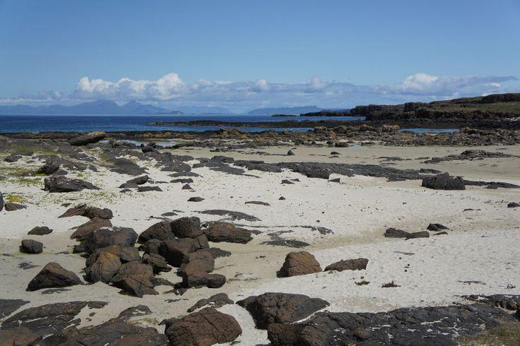 Langamull Beach and Kildavie, near Dervaig, Walk Isle of Mull