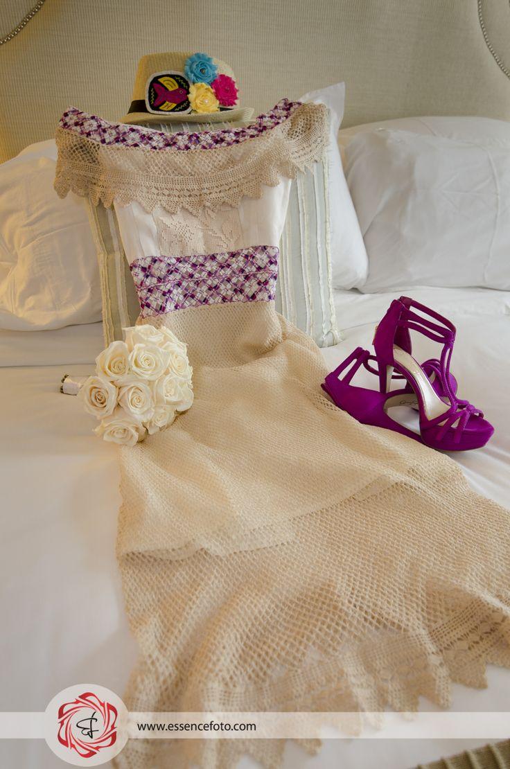 Vestido de Novia estilo típico Panama - Bodas - Wedding - fotografía - detalles -decoración #essencefotografia #essencefoto