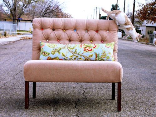 Make A Tufted Dining Bench The Diy Adventures Upcycling Recycling And Do It Yourself From