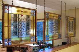 Hanging Panels @ Edie Martin Stained Glass - beautiful room dividers!
