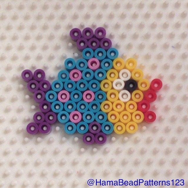Hama Bead Fish (Hexagon Board) by  hamabeadpatterns123
