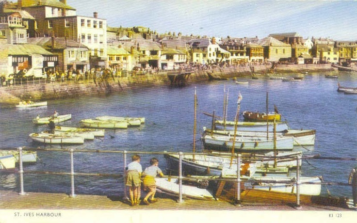 Cornwall, St Ives, Harbour 1950's
