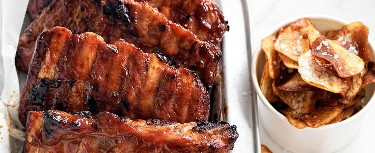 Impress the carnivores if your family with these finger-licking American-style pork ribs. The sweet, sticky marinade will have them coming back for more!