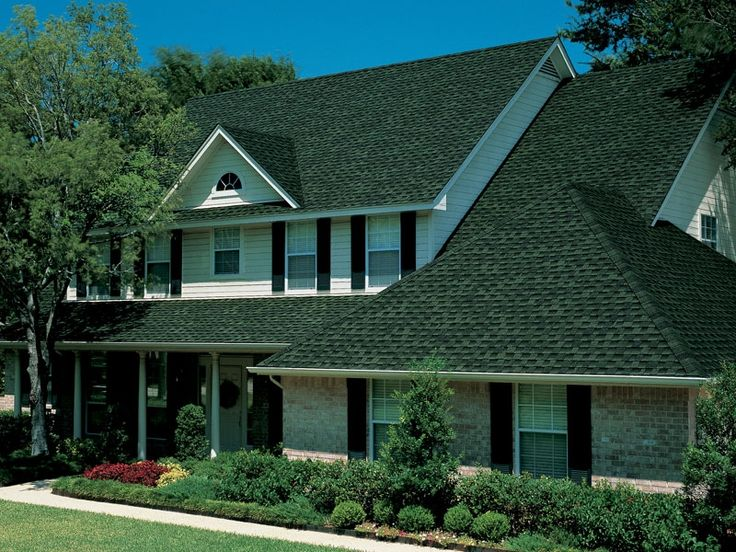 Charleston Green Shutters And Door With A Green Asphalt Roof | Pictured  Above: GAF Timberline Ultra HD Hunter Green House | DIY | Pinterest |  Asphalt Roof, ...