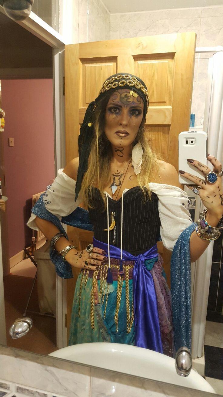 Halloween costumes- fortune teller. Gypsy bitxh