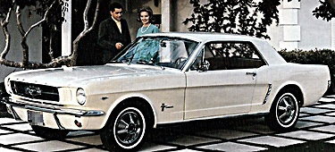 1964 Ford Mustang - Ford sold 1 million of these in its first full year which was '65 ...