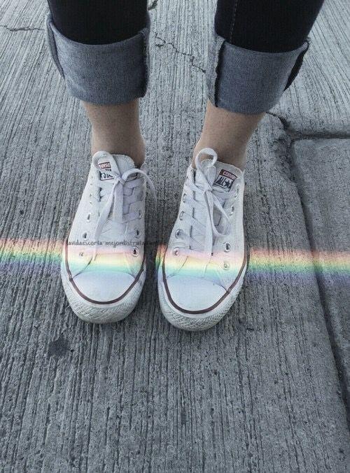 Arco-íris no tênis