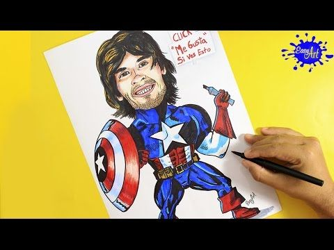 Dibujando a German (Capitan America) / HolaSoyGerman - JuegaGerman YouTube