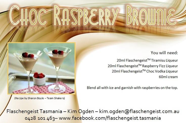 Choc Raspberry Brownie Cocktail