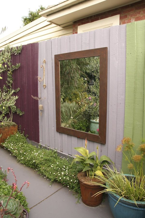 36 best images about mirrors and glass in the garden on for Outdoor mirror ideas