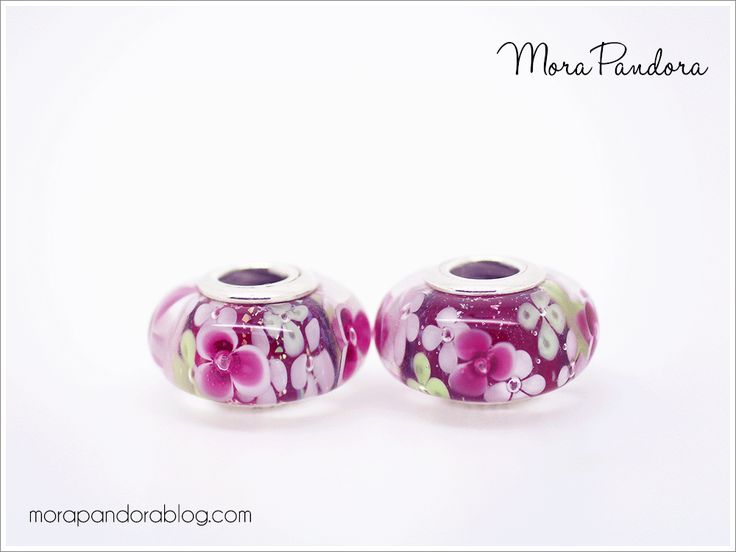 ce028c669 ... Purple Flower Glass Charm Pandora Flower Garden muranos!
