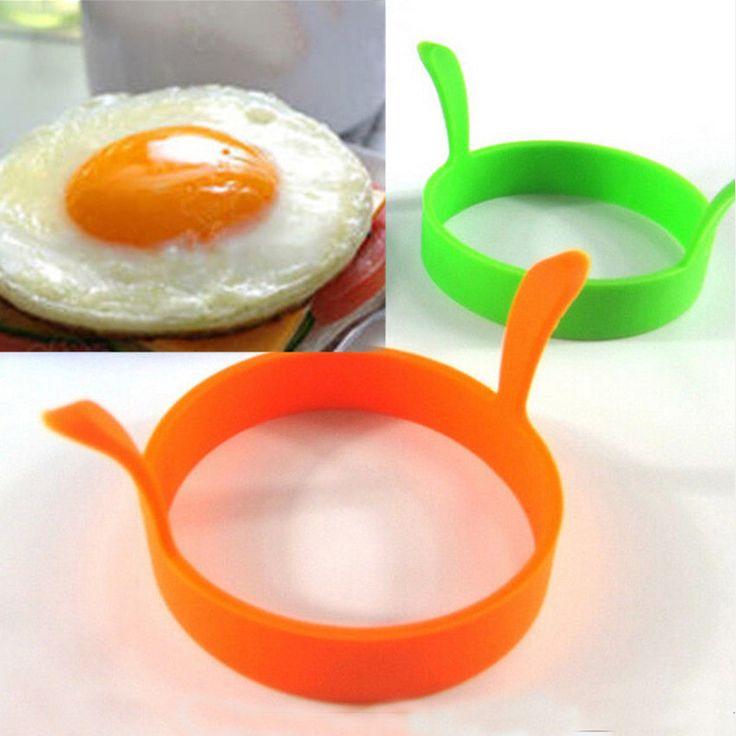 Hot 1 Unid Color Al Azar DIY Ronda Desayuno Pancake Moldes De Silicona De Huevo Herramientas de Cocina Accesorios de Cocina
