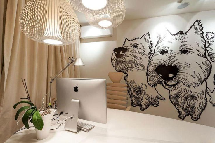 http://taizh.com/wp-content/uploads/2014/11/Funny-animal-wallpaper-design-in-home-office-design-interior-with-white-wooden-table-also-brown-curtain-glass-window-and-unique-pendant-lamp.jpg