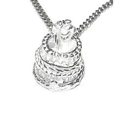 Buy our Australian made Wedding Cake Pendant - P-1489  online. Explore our range of custom made chain jewellery, rings, pendants, earrings and charms.