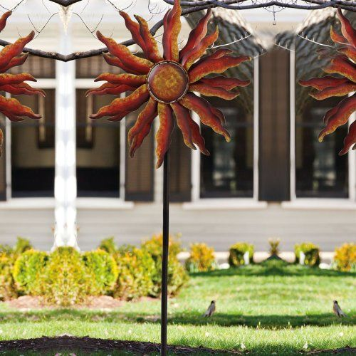Captivating Amazon.com : Spinning Sun Kinetic Garden Art : Wind Sculptures : Patio, Lawn