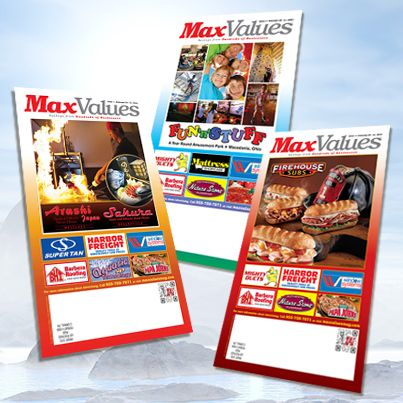 The NEW February issue of MaxValues magazine is arriving in mailboxes across Cleveland, Northern Akron and surrounding areas NEXT WEEK! Keep an eye out! Packed with savings from Firehouse Subs, Arashi Japan and Sakura Japanese Steakhouses, Fun 'N' Stuff, Miles Farmers Market, Papa John's, Nature Stone and many more!