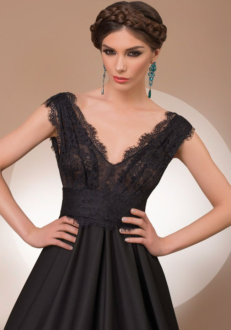 My Secret World, a-line black luxury evening dress, 2016 My Secret by Bien Savvy