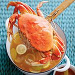 Simple Boiled Crabs with Garlic-Vermouth Butter Recipe   MyRecipes.com