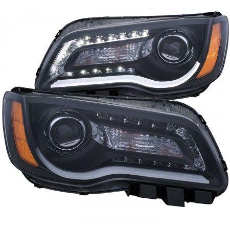 Anzo 121495 | 2013 Chrysler 300 Black Projector Headlights for Sedan