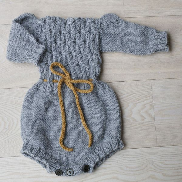 """Pattern on PDF for winter romper Sizes - 6 (12) 24 months Yarn - """" Alpakkaull"""" from Sandnes garn, and also some yarn for the waist band Yarnamount - 100 (150"""