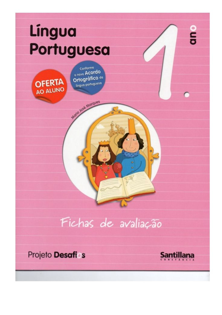 Fichas de avaliação de português 1ºano