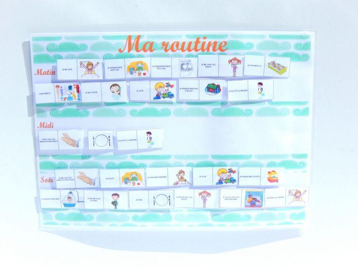 Organisation rentrée : créer une routine pour les enfants : tutos + free printable.