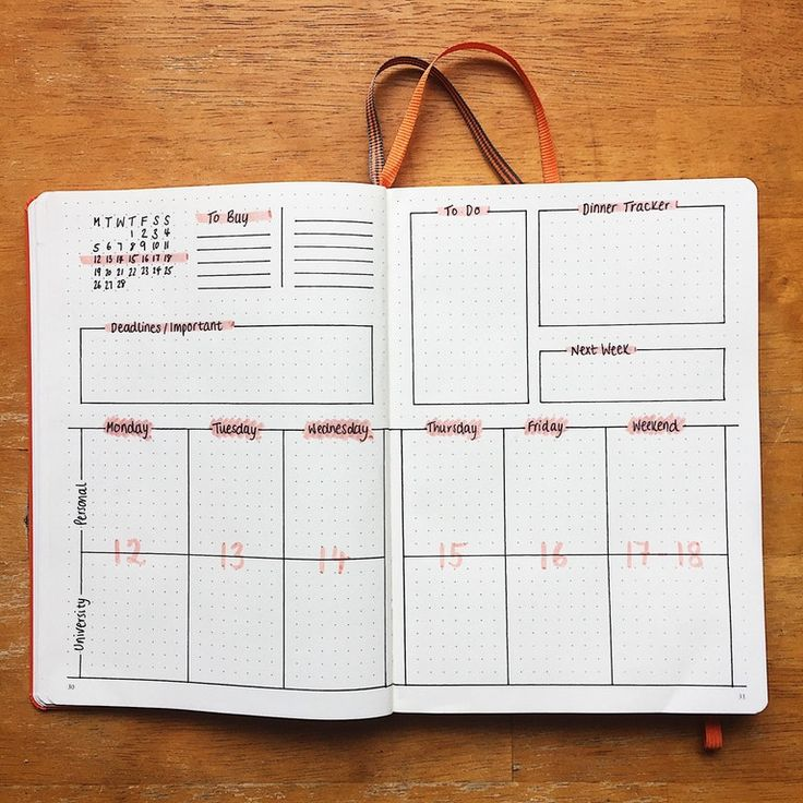 """I finally went for it and tried out a new weekly spread! I wanted to try and be less """"boxy"""" but that didn't go so well... boxes make me feel organised! : bulletjournal"""