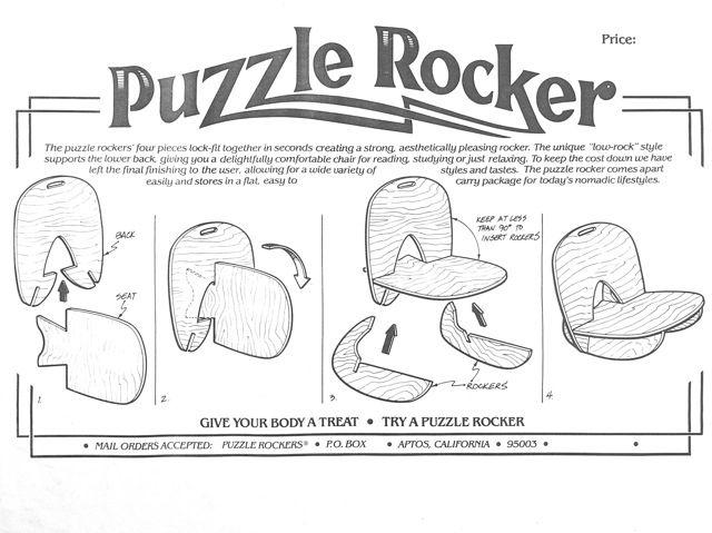 Puzzle Rocker ™ Plywood Interlocking Rocking Chair Plans