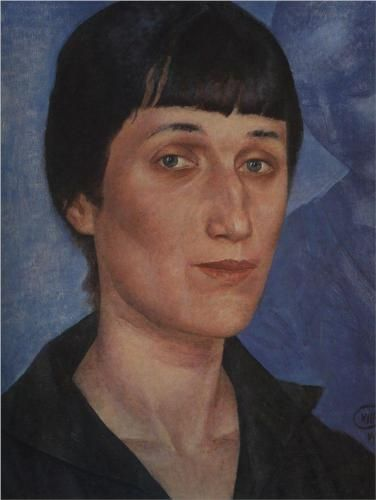 Kuzma Petrov-Vodkin (1878-1939) : Portrait of Anna Akhmatova, 1922. Russian Museum, St. Petersburg, Russia.