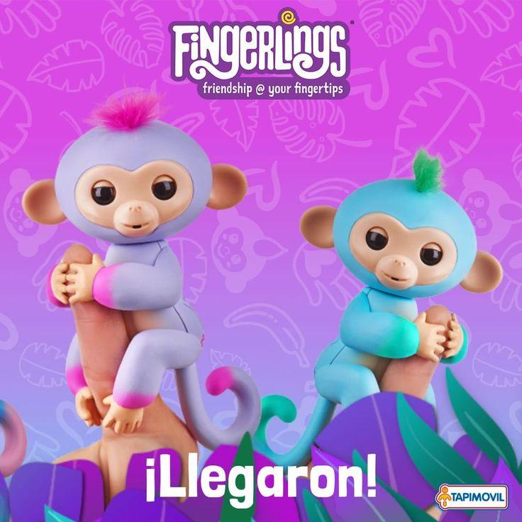 Llegaron los Fingerlings!!  Ya están con nosotros los tiernos y amigables monos animados en miniatura! Son tan lindos...  Podés hablarles y acariciarlos  ellos reaccionarán alegremente! #fingerlings #tapimovil #monitos #animados #coleccionables #amistad #dedos