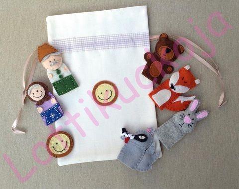Vajaspánkó ujjbábkészlet , Baba-mama-gyerek, Játék, Báb, Készségfejlesztő játék, Meska
