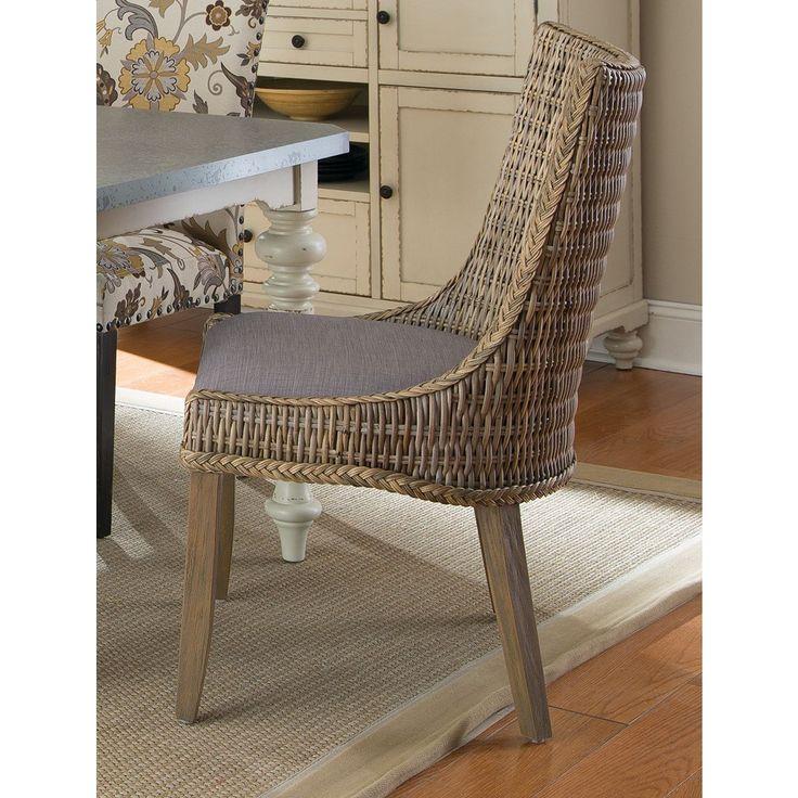 Coaster Company Grey Mahogany Rattan Greco Dining Chairs