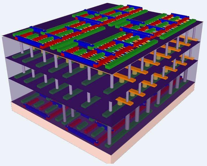 Chips del futuro: varios pisos, nanotubos de carbono y memorias de platino y titanio