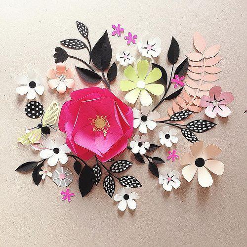 Scandinavian-style Paper Flower Arrangements by Hanna Nyman