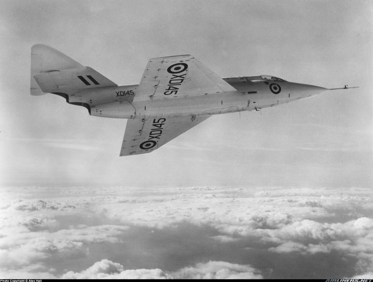Saunders-Roe SR.53 with X0145 registraion in test flight.