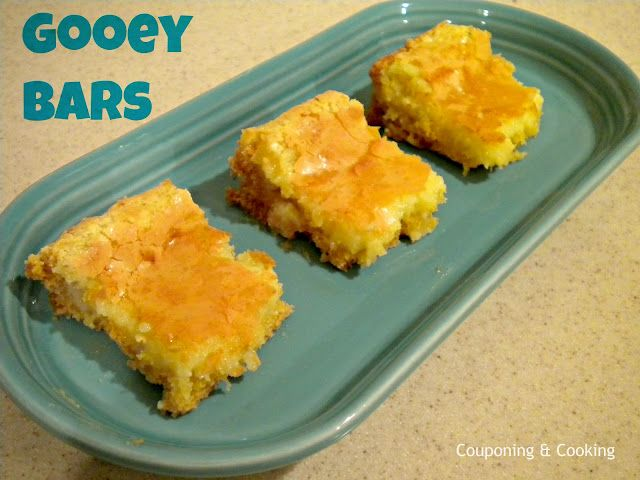 Couponing & Cooking: Gooey BarsExtreme Couponing, Christmas Baking, Lemon Cake, Cake Mixed, S'Mores Bar, Butter Bar, Gooey Butter, Bar Recipe, Gooey Bars