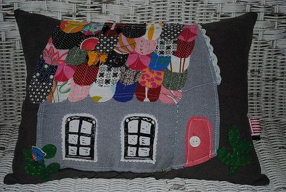 Emlee Handmade Etsy.com/shop/emleehandmade one of a kind whimsical cottage pillow