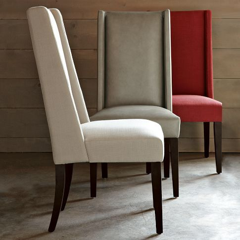 high dining chairs modern back fabric uk australia chair glass table