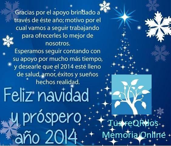 Feliz Navidad y Próspero año 2014 desde www.tusreqrdos.com