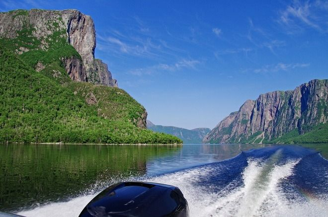 The boat ride to the end of Western Brook Pond in Gros Morne National Park is glorious