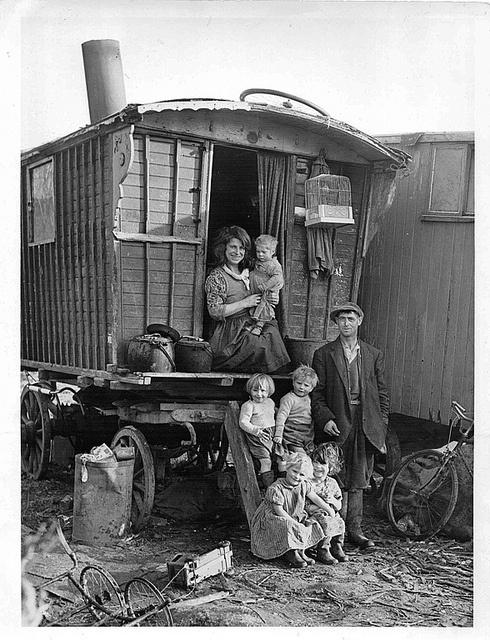 Gypsy Family, via Flickr. Gypsies' fertility rate has been the despair of population control freaks in Eastern Europe. Go, Gypsies!