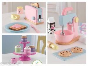3 Kidkraft Kitchen Sets Pastel Baking SET Cupcakes SET Pastel Toaster SET | eBay