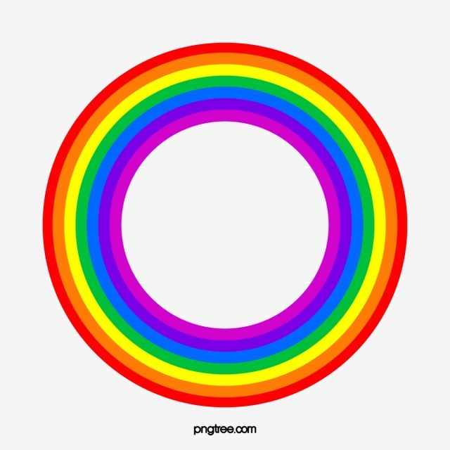 Circular Rainbow Rainbow Round Color Png Transparent Clipart